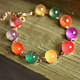 Hot Sale Bohemian Style Candy Color Crystal Women's Bracelet