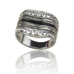 Chic Rhinestone Inlaid Ring For Men